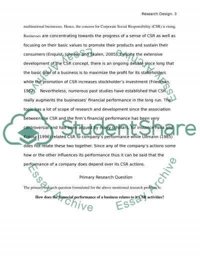 Research Proposal: Identify a Researchable Problem essay example