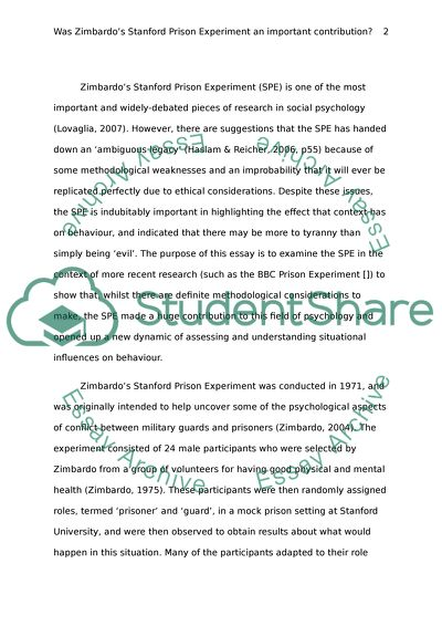 stanford prison experiment essay