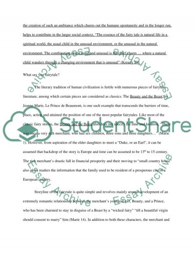 Fairytale with Child Psychology essay example