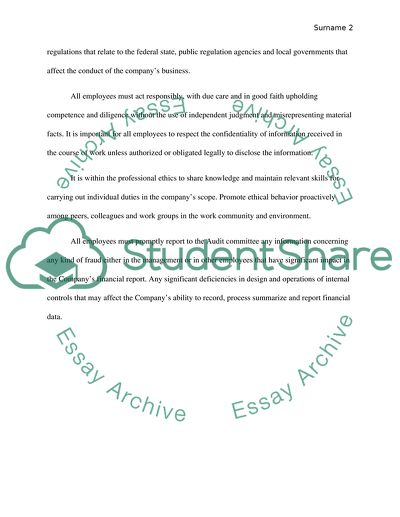 code of conduct essay