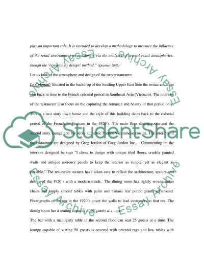 Restaurants essay example