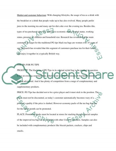 Marketing Communication (PG Tips) essay example