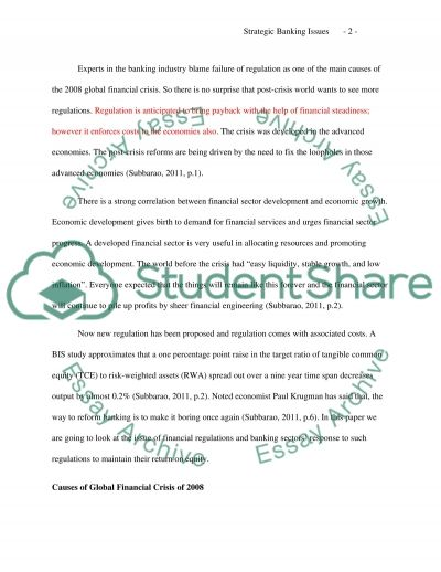 Strategic banking issues essay example