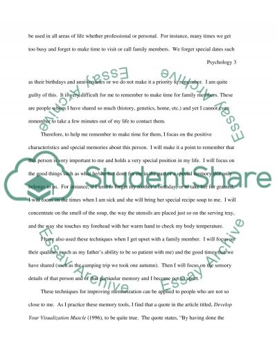 Psychology Master Essay essay example