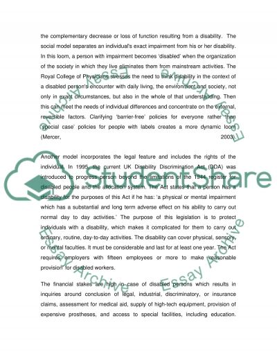 Challenging Disability Essay
