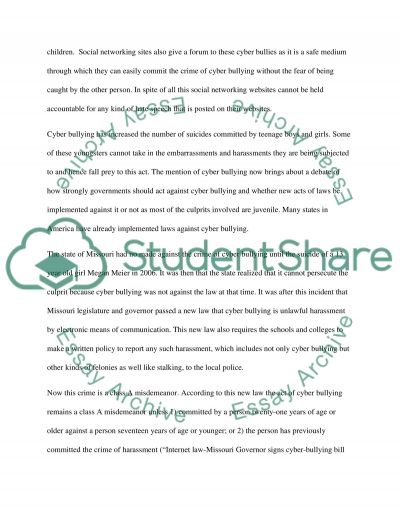 cyber bullying research paper example topics and well written  cyber bullying essay example