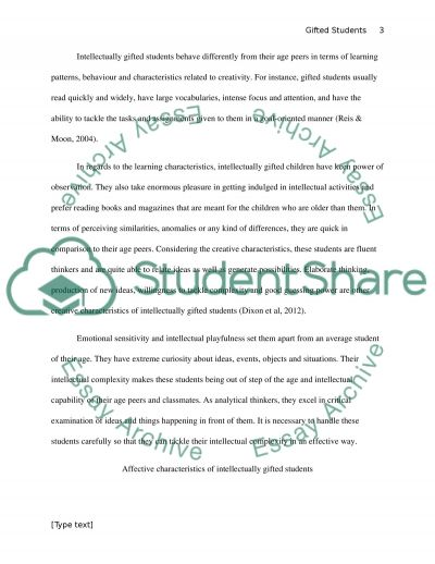 Affective Characteristics Of Gifted Students And Meeting Educational Needs essay example