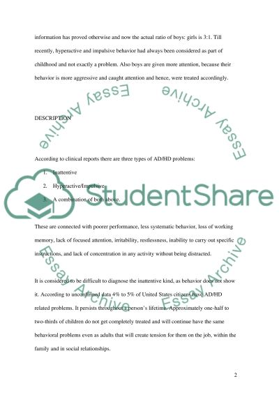Psychosocial Effects of Adult ADHD essay example