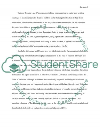 Education of children with disabilities essay example