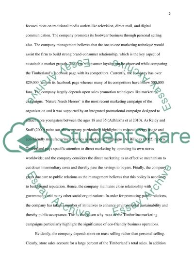 Integrated Marketing Communications: Timberland Research Paper example