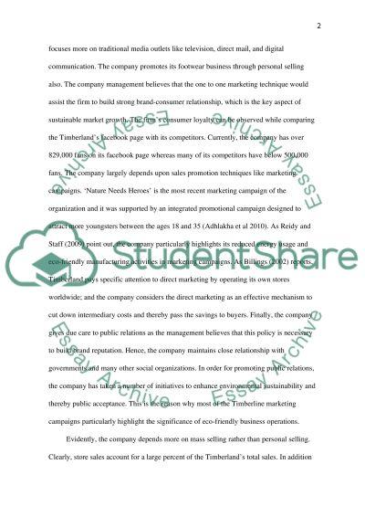 Integrated Marketing Communications: Timberland essay example