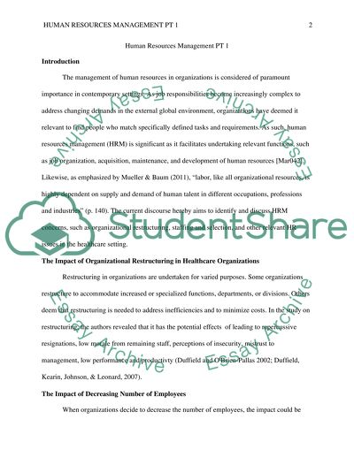 Human Resource Management PT 1