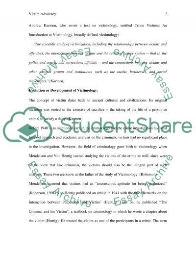 Victim Advocacy essay example