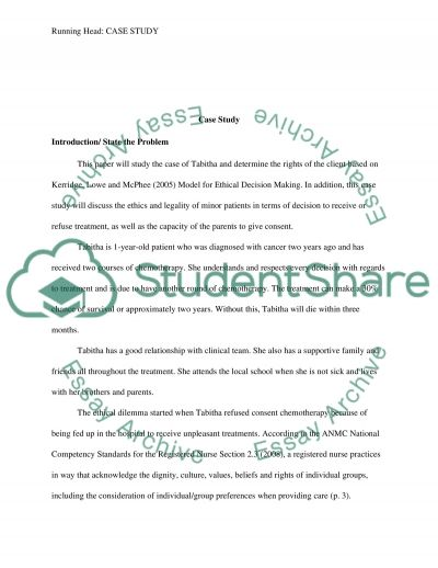 Case Study: Patient Diagnosed with Cancer Essay example