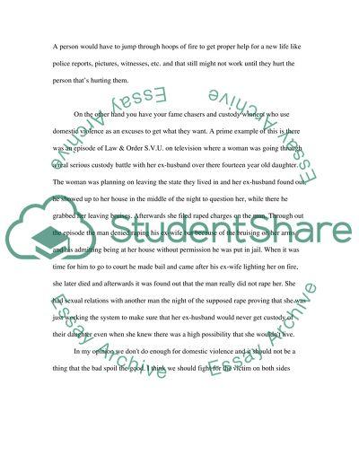Domestic violence High School Essay
