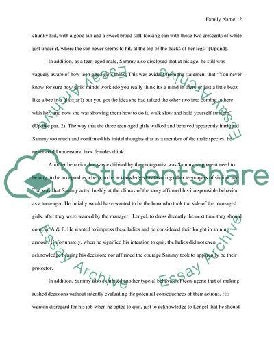 fiction analysis essay example