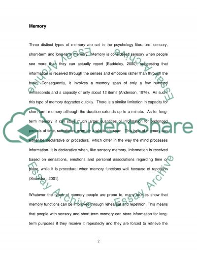 Improved Memory Function essay example