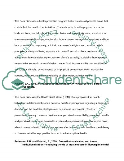 Deinstitutionalization Capstone Project Research Paper example