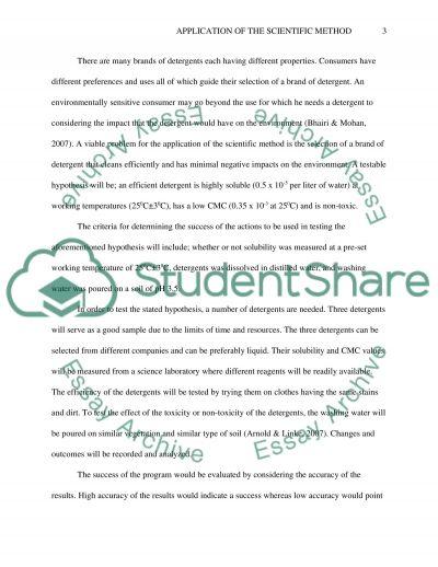 Application of the Scientific Method essay example