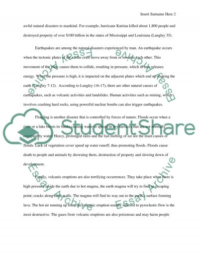 what caused a hurricane tornado or other natural disaster essay what caused a hurricane tornado or other natural disaster essay example