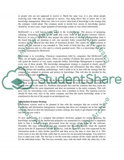 Essay about Strategic Information Systems essay example