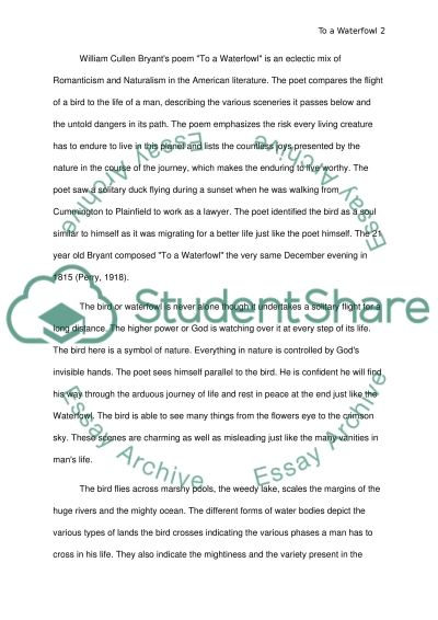 Thesis essay example