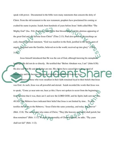Understanding what it means to be a Christian essay example