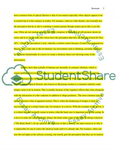 Movement essay example