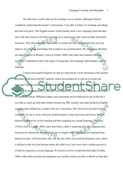 language learning autobiography essay example topics and well  language learning autobiography essay example