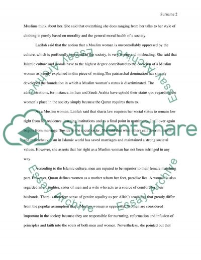 Interview Assignment essay example