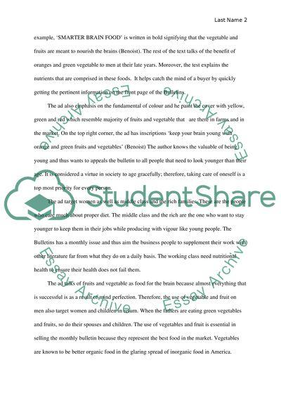 advertisement analysis essay example  topics and well written  advertisement analysis