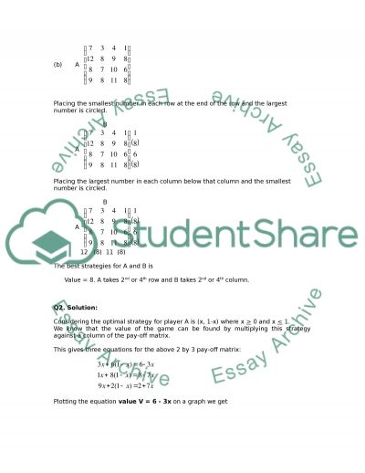 Pure Strategy essay example