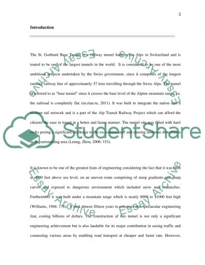 Civil engineering essay example