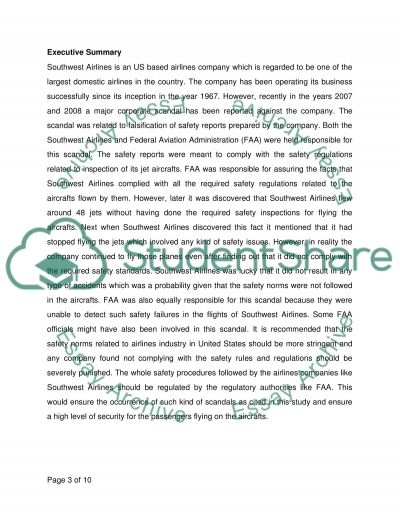 Finance and Accounting Essay on Southwest Airlines Essay example