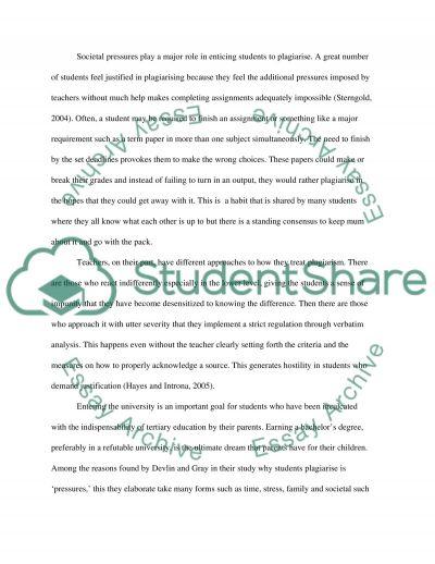 plagiarism essay example