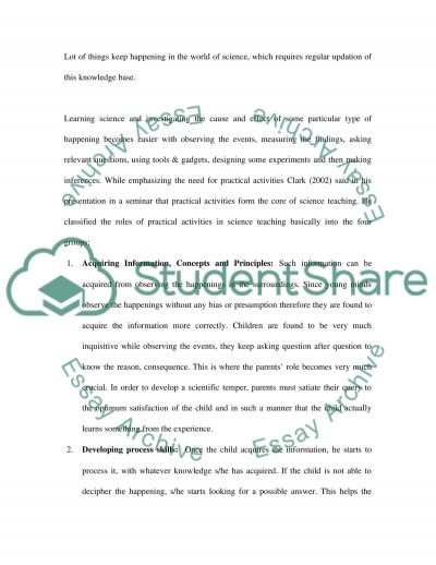 Development of Childrens Scientific Skills and Knowledge essay example