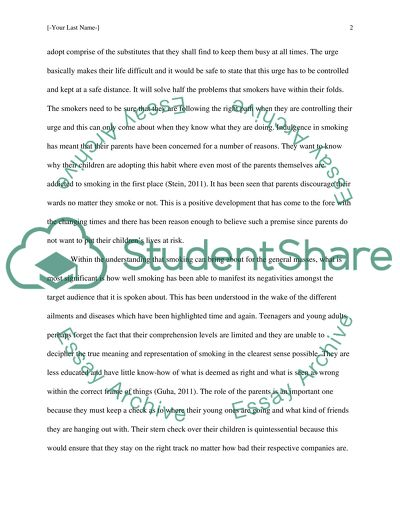 Smoking English Essay