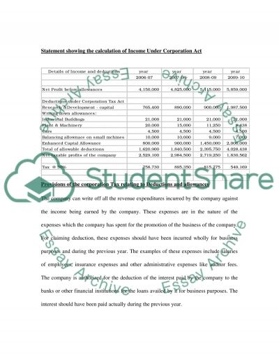 Taxation Case study Essay essay example