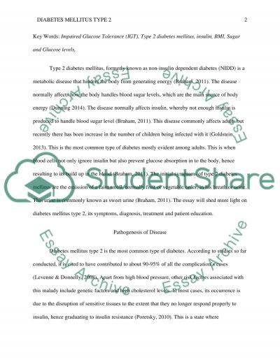 Diabetes mellitus type 2 essay example