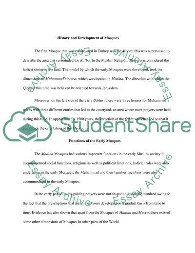 Modern Mosque Essay Example  Topics And Well Written Essays    Modern Mosque