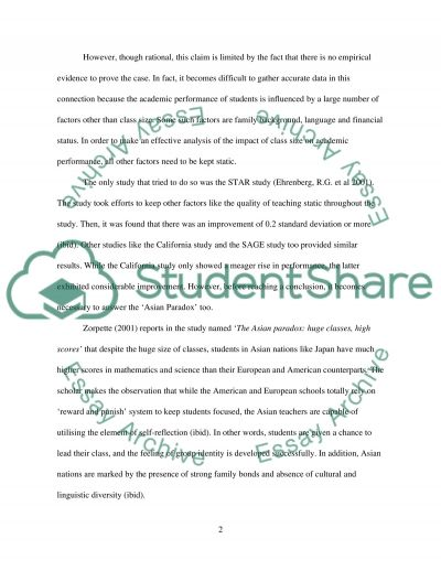Read the case studies to finish the essay within title of primary school pupils can achieve academic success only if they are taught in small class. to what extend do you agree with this statmente essay example