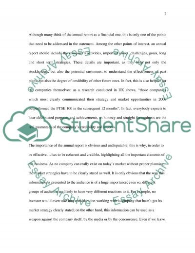 Statement on companys activity essay example