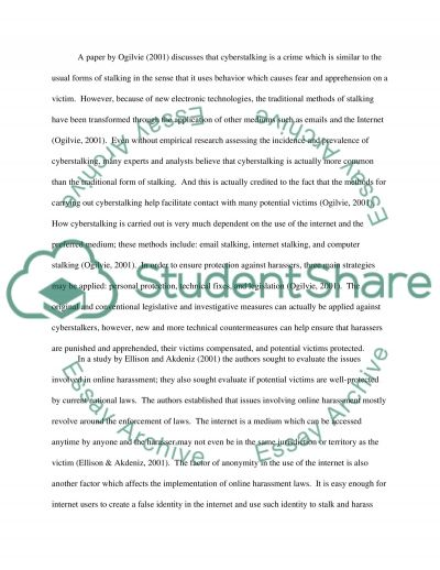 Cyber Stalking essay example