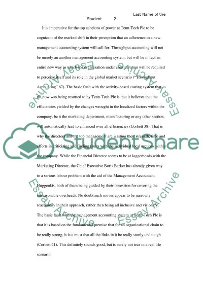 Tenn-Tech Plc essay example