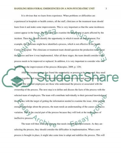 Management Essay example