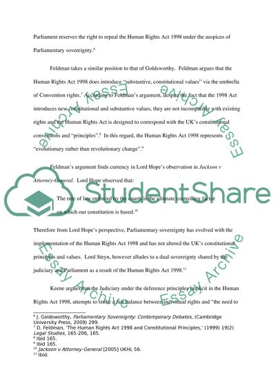 Science And Technology Essay Topics The Human Rights Act  And Parliamentary Sovereignty Science Essay Ideas also Essay On Global Warming In English The Human Rights Act  And Parliamentary Sovereignty Essay Essay On English Teacher