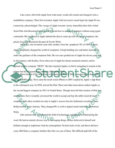 College English Essay Topics Steve Jobs A Modern Hero Synthesis Essay Ideas also The Yellow Wallpaper Critical Essay Steve Jobs A Modern Hero Essay Example  Topics And Well Written  Essays Topics In English