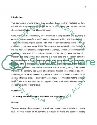 Engineering Managment Coursework example