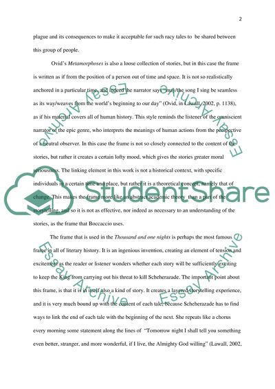 The Frame Narrative Form Essay Example | Topics and Well Written ...