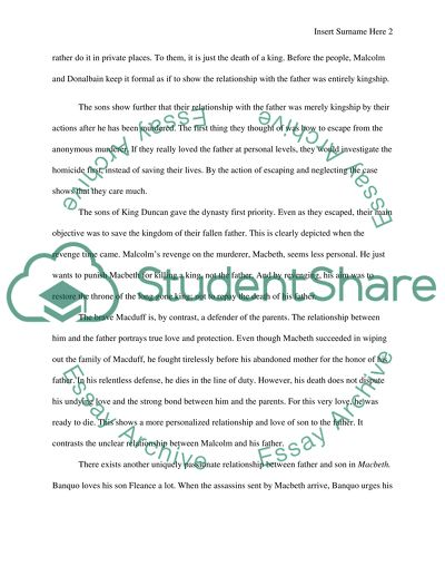 Comparative essay of Shakespeare